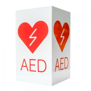 Znak informacyjny - tablica AED 3D